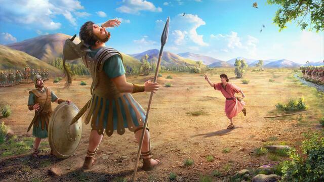 Давид побеждает Голиафа