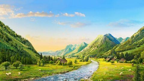 История. Великая гора, маленький ручей, свирепый ветер и гигантская волна